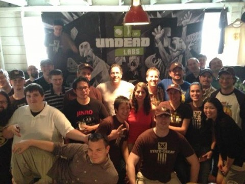 The Team with our Superfans before we launched State of Decay