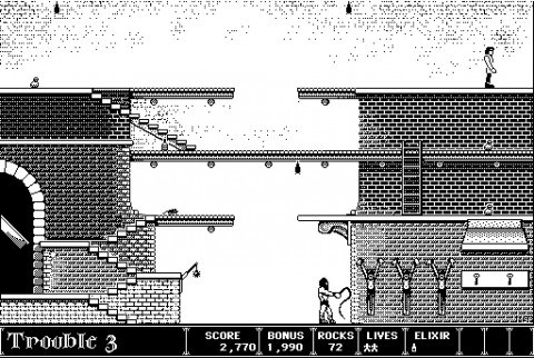 (A screenshot of the original Macintosh version of Dark Castle.)