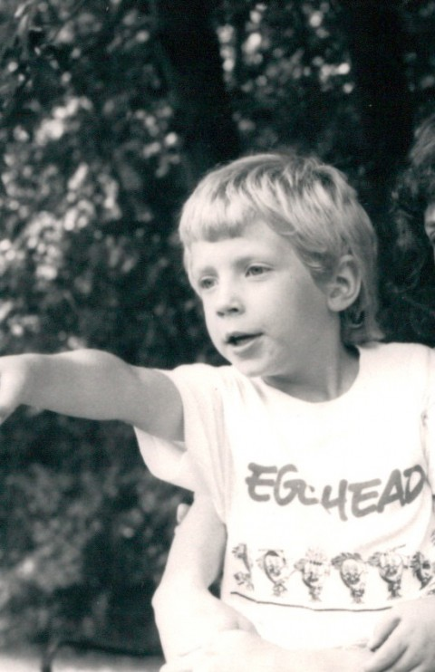 (Here's me in my Egghead Software t-shirt. I'm afraid my fashion sense hasn't improved all that much since then.)