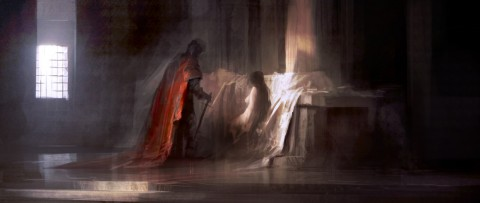 """Knight at the Altar"" by Leventep ( http://leventep.deviantart.com )"